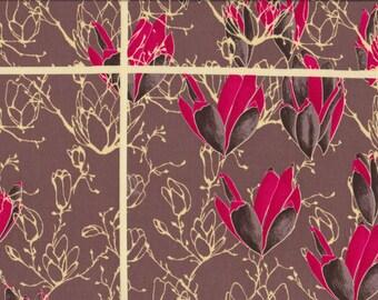 1 yd. treetop fancy, magnolia morning, raspberry