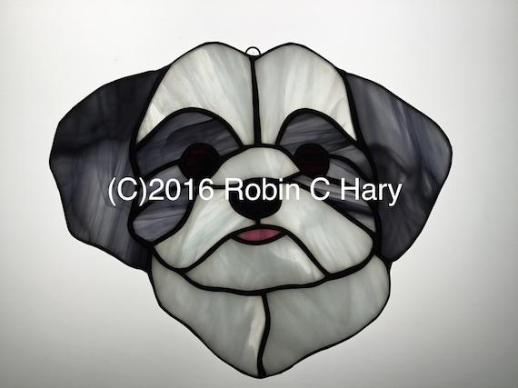 Smooth Fox Terrier Stained Glass Suncatcher Dog Memorial Original and Exclusive Design Handmade Glass Dog