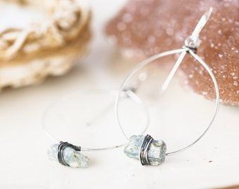 Kyanite Earrings, Raw Stone Earrings,  Gift for Wife,