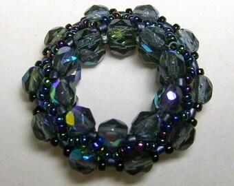 Crystal Wonder Wheel Pendant - Gray Rainbow