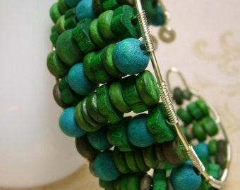 Land and Sea Cuff Bracelet