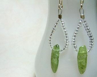 Spring Ice - Green Kyanite Earrings