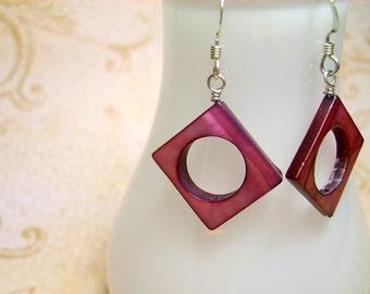 Geometric Shell Earrings