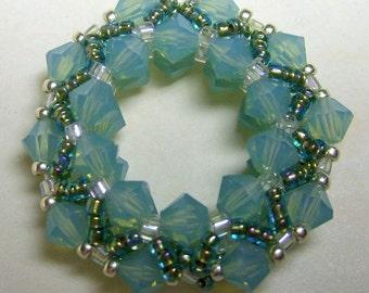 Crystal Wonder Wheel Pendant - Pacific Opal