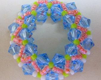 Crystal Wonder Wheel Pendant - Lt. Sapphire