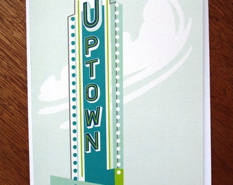 Uptown Minneapolis Note Card