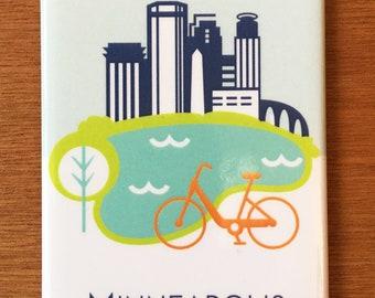 Minneapolis Bike, Minnesota, magnet