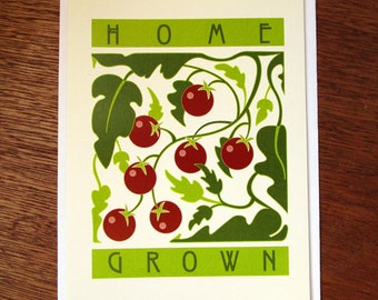 Home Grown Tomato Note Card