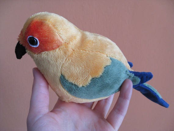 Conure Plush Doll Sun Blue Crown Dusky Or Golden Etsy