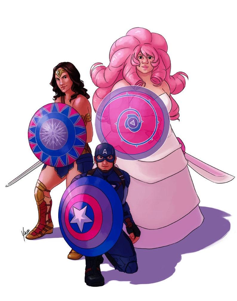 11x17 Fanart Print Bisexual Shield Gang Etsy