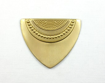 4 gold TRIANGLE jewelry embellishments . 29mm x 35mm (S55).