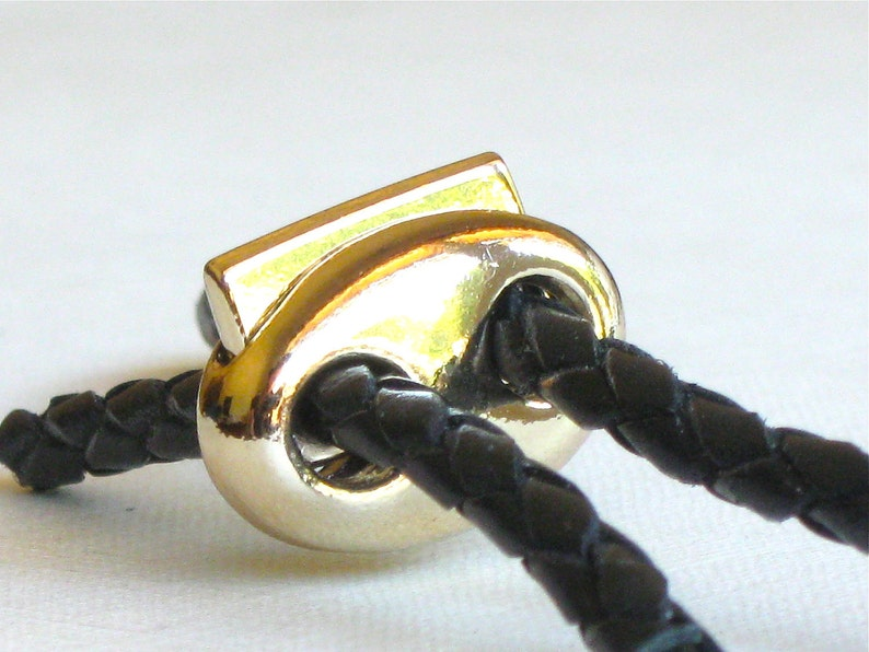 1 gold spring jewelry CLASP Fits 3mm leather cord or smaller.