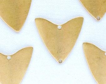 12 TRIANGLE geometric jewelry charm. 21mm x 20mm (S39a).