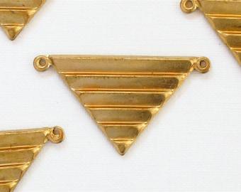 10 TRIANGLE geometric jewelry pendant . 17mm x 29mm (ST67)