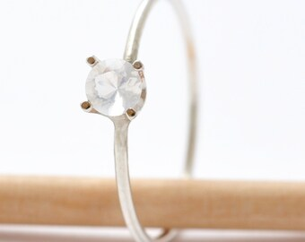 Opal Rings: Solitaire Stone, Gifts for Mothers Day