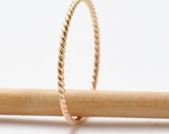 Rope Ring: 14K Yellow Gold Filled Band, Inexpensive Gifts
