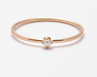 Pearl Ring: Rose Gold Pearl Rings, Best Graduation Gifts