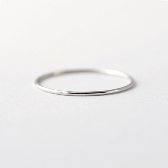 Simple platinum wedding band thin pt950 ring etsy image 0 junglespirit Gallery