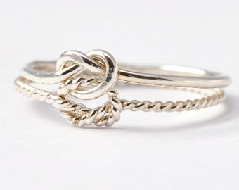Double Knot Ring: Silver True Love Waits Ring, Promise Rings