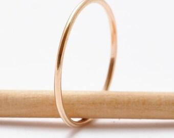Gold Ring: Simple Thin Band, Minimalist Jewelry