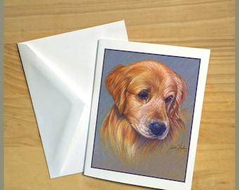 Golden Retriever Dog Fine Art Note Cards - Free Shipping ***