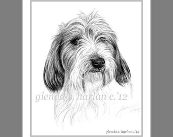 PBGV Dog Fine Art Note Cards - Set of Eight - Free Shipping ***