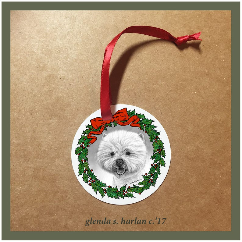 West Highland Terrier Dog Christmas Ornaments - FREE SHIPPING