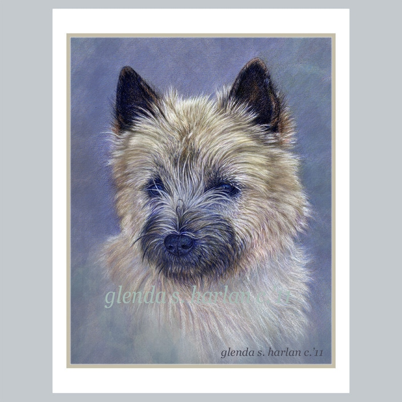 Free Shipping *** Cairn Terrier Note Cards Set of FOUR