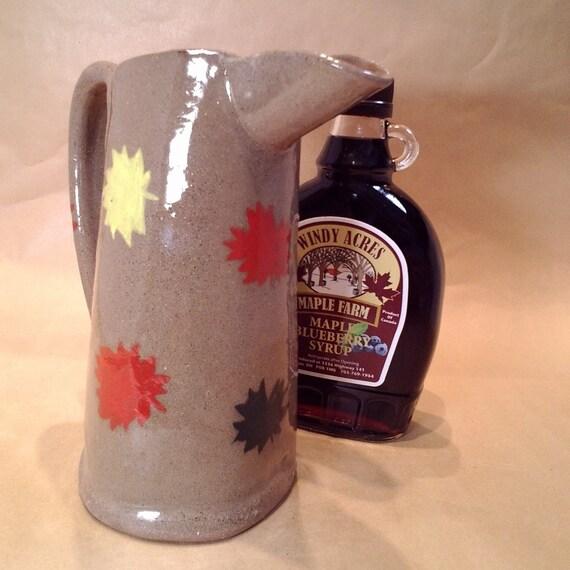 Ceramic Pitcher Syrup Milk Or Juice Pitcher 24 Oz Gravy