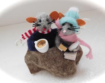 Needle felted mice - felt mouse - cute mouse - felt mouse -  - Handmade mouse - felt cute mouse - cute little mouse