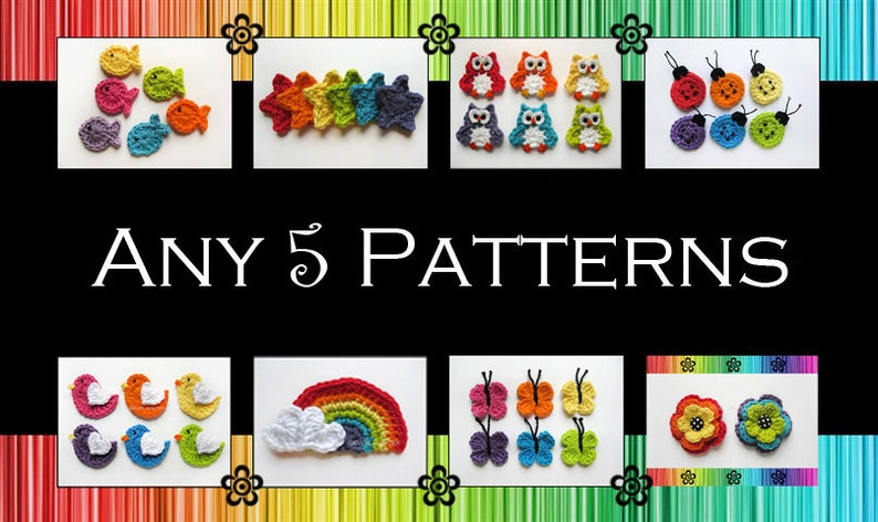 Your Choice of 5 Crochet Patterns PDF image 1