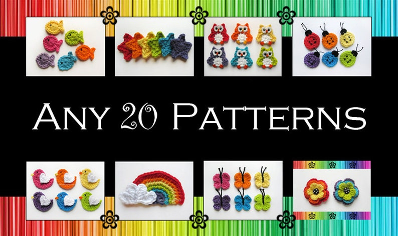 Your Choice of 20 Crochet Patterns PDF image 0