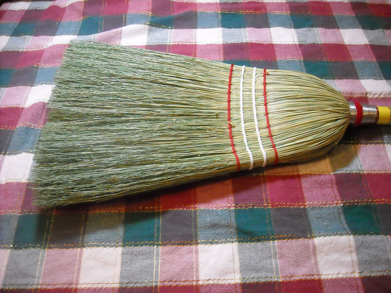 Red Wooden Handle Kitchen Broom Corn Broom Handmade Etsy