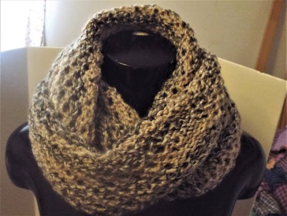 Knit Lace Mesh Cowl Infinity Scarf And Ear Warmer Headband Etsy