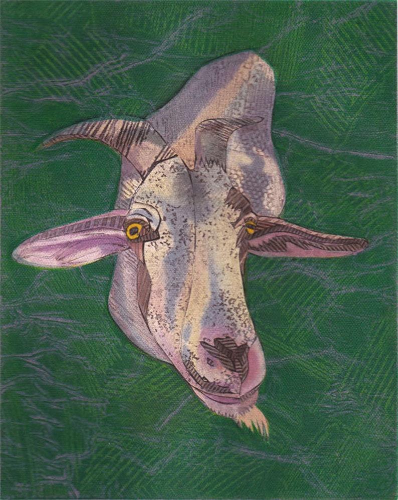 Goat Art Print You've Got to be Kidding 2 Original image 0