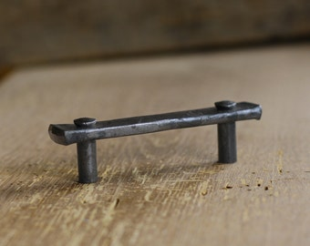 "3"" Lithops Tenon Drawer Pull - Wrought Iron Drawer Handle"