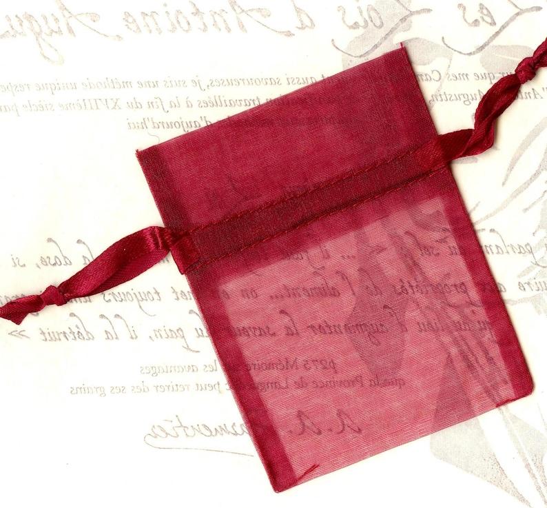 20x organza gift bags BURGUNDY WINERED 7.5x10cm PREMIUM quality wedding birthday Christmas packaging