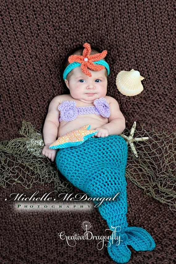 sc 1 st  Etsy & 6 to 9 month Mermaid Halloween Costume Sitter Photo Prop