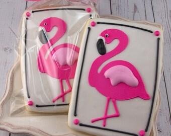 Flamingo Cookies - 24 Decorated Cookies