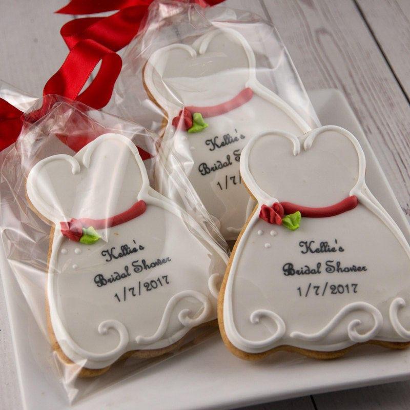 Bridal Cookies Dress Cookies Wedding Cookies 12 Decorated