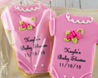 Baby Shower CookieFavors, Baby Cookies, Personalized Cookies - 12 Decorated Sugar Cookie Favors