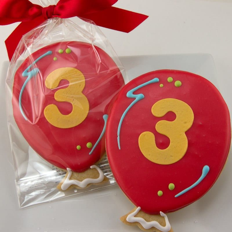 Balloon Cookies For Birthday 12 Decorated Sugar Cookie