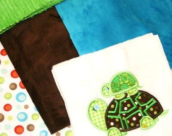 Topsy-Turvy Turtles Cuddly Minky Blanket Kit