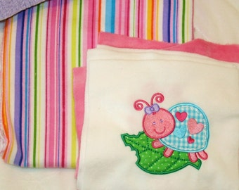 More Cute Bugs Cuddly Minky Blanket Kit