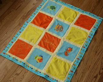 Under The Sea Cuddly Minky Blanket