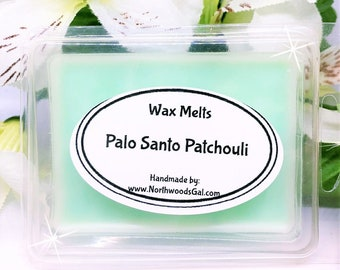 Palo Santo Patchouli, Wax Melt Sampler, or Choose Scent, Strongly Scented, Hostess, Birthday, Christmas, Wedding, Holiday, Gifts, odors