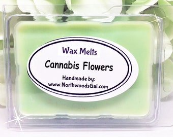 Cannabis Flowers, Wax Melt Sampler, or Choose Scent, Strongly Scented, Hostess, Birthday, Christmas, Wedding, Holiday, Gifts, odor remover