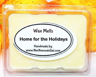 Home for the Holidays, Wax Melt Sampler, or Choose Scent, Strongly Scented, Hostess, Christmas, Wedding, Holiday, Gifts, odor remover
