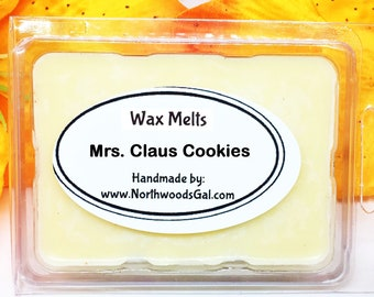 Mrs. Claus Cookies, Wax Melt Sampler, or Choose Scent, Strongly Scented, Hostess, Christmas, Wedding, Holiday, Gifts, odor remover