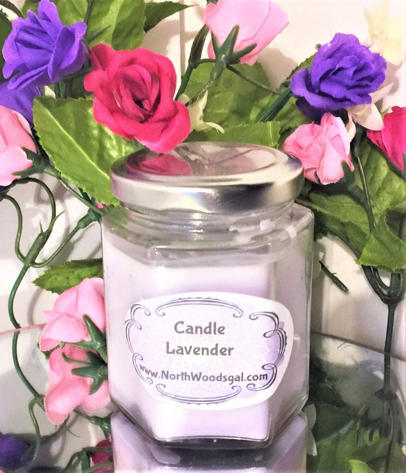 MADE Lavender  Paraffin Candle Scented  Birthday Christmas image 0